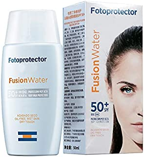 Fotoprotector Fusion Water Oil-Free Wet Skin Try Touch Sun Gel Sunscreen SPF 50 PA +