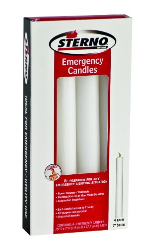 Sterno Emergency Candles 7-Inch Sticks