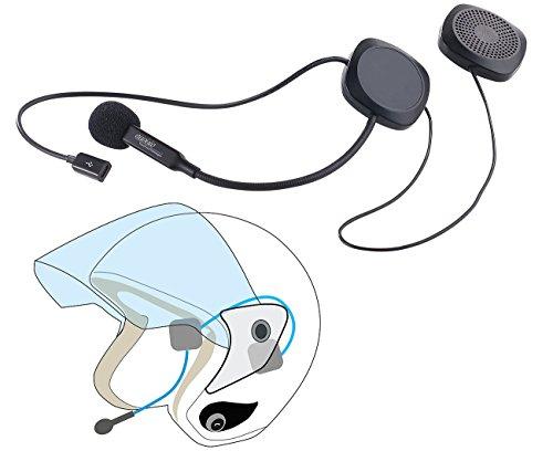 auvisio Headset Motorrad: Stereo-Headset mit Bluetooth 4.1 & Freisprecher für Motorradhelme (Helm Headset)