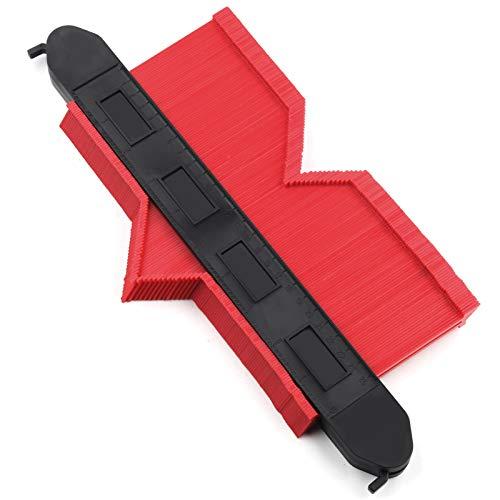 型取りゲージ (長さ253mm & 幅132mm) ロックと鉛筆付 曲線定規 不規則測定ゲージ?Mreechan 高精度 目盛付き 高品質 ABS樹脂製 DIY用測定工具 コンターゲージ