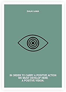 Lab NO 4 A Positive Action & Vision Dalai Lama Quotes Poster in A3 (16.5