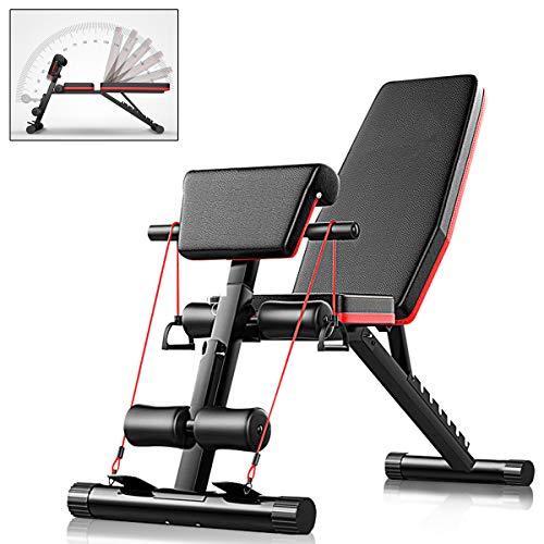 CANMALCHI Banco de entrenamiento ajustable para sentarse, Banco de peso inclinado para ejercicios de gimnasio en casa, entrenamiento de cuerpo completo 4 en 1 multifuncional