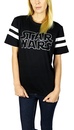 Star Wars Womens Logo Varsity Football Tee X-large Black