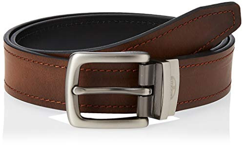 Fossil Men's Parker Reversilbe Leather Belt, Brown, Size 38