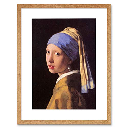 Wee Blue Coo Johannes Vermeer meisjes pareloorbellen schilderij afbeelding ingelijst wandafbeelding