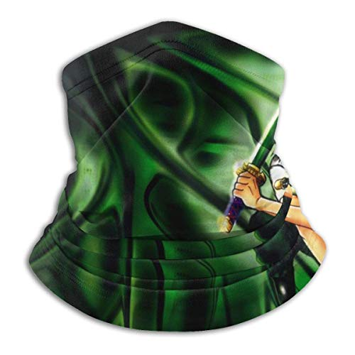 NA ONE Piece Roronoa Zoro Microfiber Tube Neck Warmer Face Mask Shield Protective Bandana Headband & Beanie