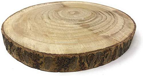 Vetrineinrete Base in Legno a Forma di Tronco Decorazione Tavolo alzatina centrotavola per composizioni rustiche Shabby Chic 34 cm 8809 P4