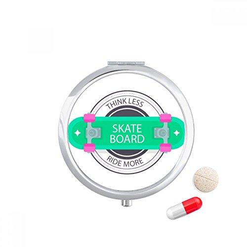 DIYthinker Winter Sport Skateboard Cartoon Patroon Travel Pocket Pill case Medicine Drug Storage Box Dispenser Spiegel Gift