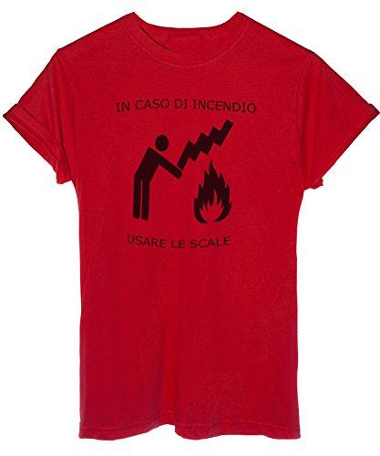 iMage - Camiseta en estuche de incienso, para usar las escalas, divertida y divertida, para mujer, color rojo
