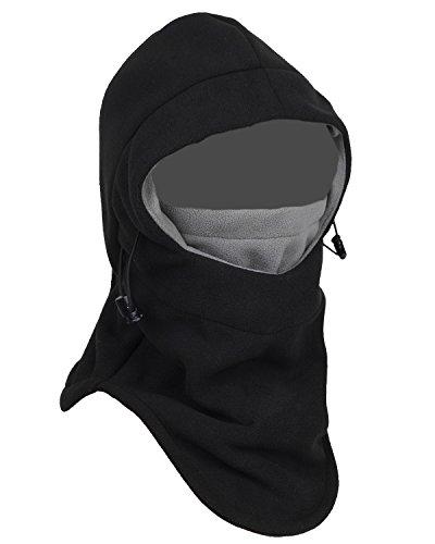 Balaclava Fleece Hood,Heavyweight Cold Weather Winter Motorcycle,Windproof Ski Mask,Ski&Snowboard Gear(black)