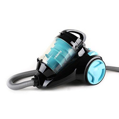 H.Koenig SLC80 - Aspirador sin bolsa multiciclónico silencioso +,74 db , Filtro HEPA, Capacidad 2.5 l, Color Azul [Clase de eficiencia energética A]