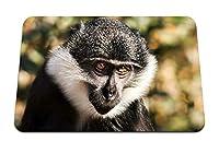 26cmx21cm マウスパッド (猿の顔の目を発見) パターンカスタムの マウスパッド