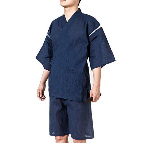 LIZANAN Jinbei Männer japanische Art Morgenmantel Kimono Pyjamas Anzug Größe...
