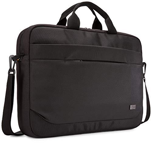 Case Logic Advantage Attaché laptoptas met sleuf voor tablet en voorvak voor kleine apparaten zwart schoudertas 15,6 Zoll zwart