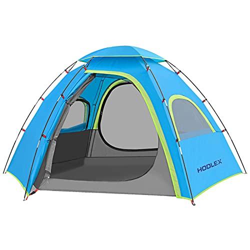 HODLEX Outdoor Camping Zelt für 3-4 Personen,mit vorzelt Zelte Wasserdicht 3500mm,Ultraleichte Kuppelzelt 3-4 Saison,Festival,Trekking und Outdoor Blau