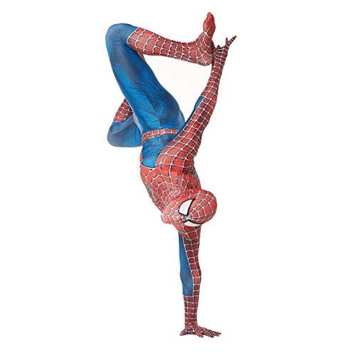Amazing Spiderman Cosplay costume delle tute a tenuta tridimensionale di stampa del modello del ragno (Color : Red blue, Size : Adult XXL 175-185cm)