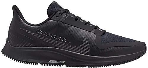 Nike W Air Zoom Pegasus 36 Shield, Scarpe da Campo e da Pista Donna, Multicolore (Black/Black-Metallic Silver 001), 37.5 EU