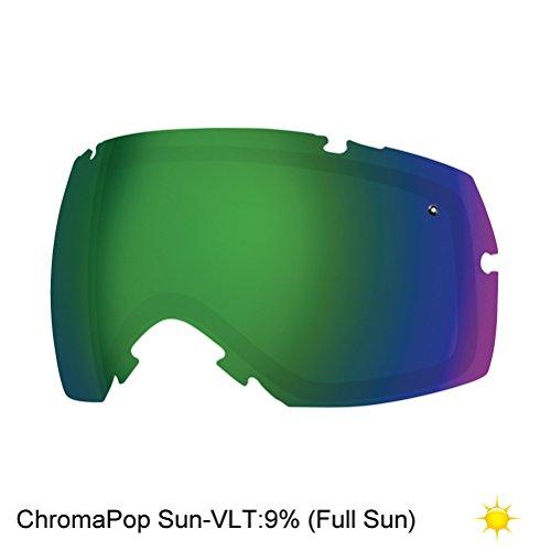 Smith IOX/IOX Turbo Snow Goggle Replacement Lens (Chromapop Sun Green Mirror)
