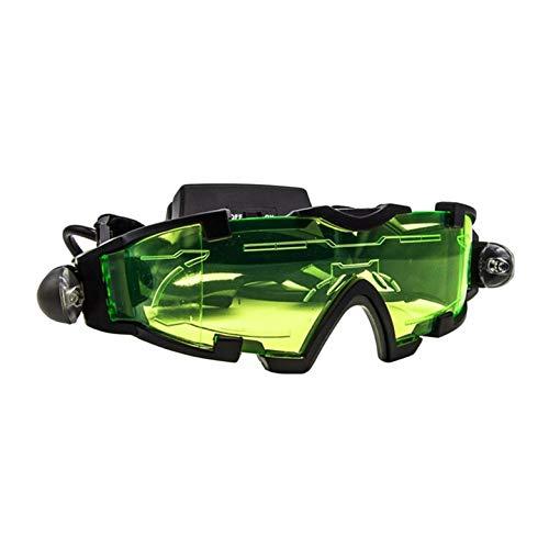 Newgreen Verstellbare LED-Nachtsichtbrille für Jagd, ausklappbares Licht, Winddicht