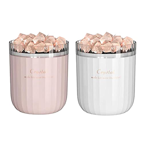 H HILABEE 2X Crystal Himalayan Salt Essential Oil Diffuser Humidifier Living Room Yoga