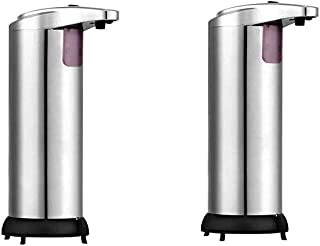 TechFaith Soap Dispensers (2 Pack), Touchless Automatic Soap Dispenser, Infrared Motion Sensor Stainless Steel Dish Liquid Hands-Free Auto Hand Soap Dispenser