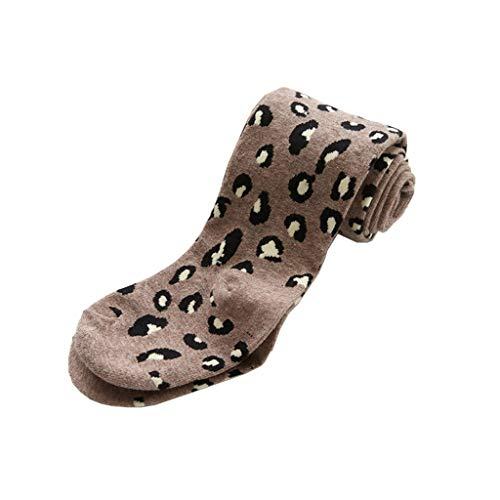 VIccoo Meisjes Panty Baby Stock Leggings Katoen Panty Kids Luipaard Print 2-10 Jaar - Deep Gray