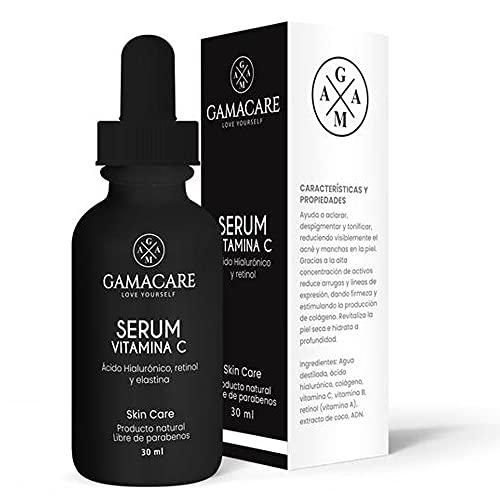 Serum Vitamina C + Ácido Hialurónico + Retinol - Serum Facial - Ingredientes Naturales- Aclara, Revitaliza, Restablece, Hidrata y Tonifica la Piel-Ideal Para Todo Tipo de Piel-30ml