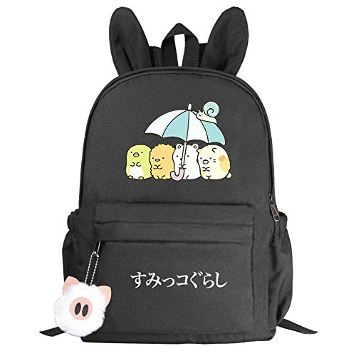 High Quality Rabbit Ears schoolbags for Primary and Secondary School Students Men and Women Casual Backpacks-black1_38CM(H)*10CM(W)*28CM(L)