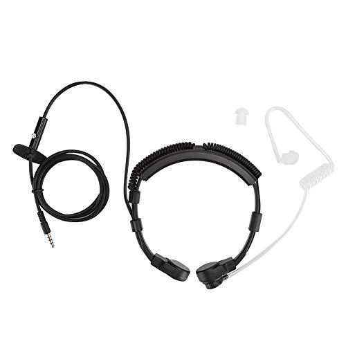 Keel Mic Oortelefoon, 3.5mm Microfoon Oortelefoon PTT Verstelbare Verborgen Luchtleiding voor Smartphone