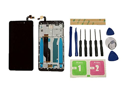Flügel para Xiaomi Redmi Note 4X Snapdragon 625 CPU Pantalla LCD pantalla Negro Táctil digitalizador Completo Pantalla ( con marco ) de Recambio & Herramientas