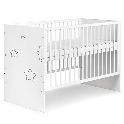 TINO - Cuna para bebé, diseño de estrellas Talla:120X60