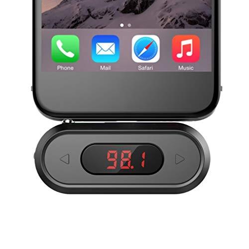 Vokmon Transmisor FM Radio FM Llamada Adaptador de Enchufe para Altavoz FM de Radio inalámbrica de 3,5 mm para iOS Android Coche Altavoz Doosl