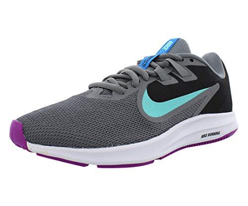 Nike Women's Downshifter 9 Sneaker (6, Cool Gray/Light Aqua-Black)