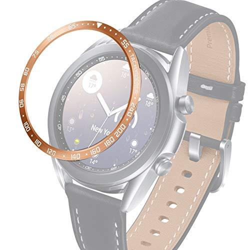 PANGTOU Para Samsung Galaxy Watch 3 41mm reloj inteligente anillo bisel de acero, versión E