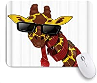 VAMIX マウスパッド 個性的 おしゃれ 柔軟 かわいい ゴム製裏面 ゲーミングマウスパッド PC ノートパソコン オフィス用 デスクマット 滑り止め 耐久性が良い おもしろいパターン (女の子かわいい子供赤い波状ロール髪大きな葉は水彩画の創造的なデザインのプリントの写真を撮る)