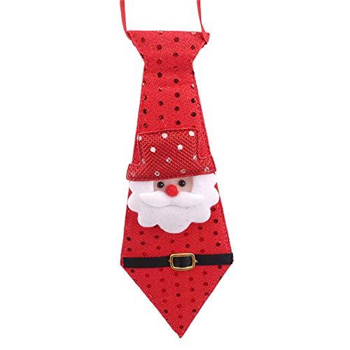 BCDZZ Weihnachtskrawatte Glitzer Pailletten Weihnachten Krawatte Sankt Schneemann Elch Party Verzierung Weihnachtsfeiertags Partei Cosplay Zubehör,Stil 1