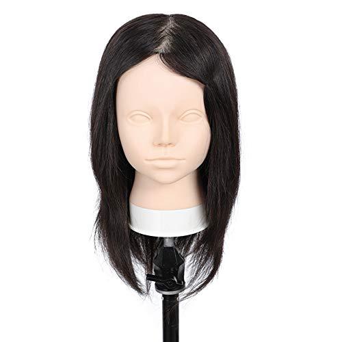 WANGXN 100% modèle tête modèle de tête de Cheveux Complet Pratique la tête de Formation pour Le Maquillage, la greffe de Cils, la modélisation Fine Coupe, etc.
