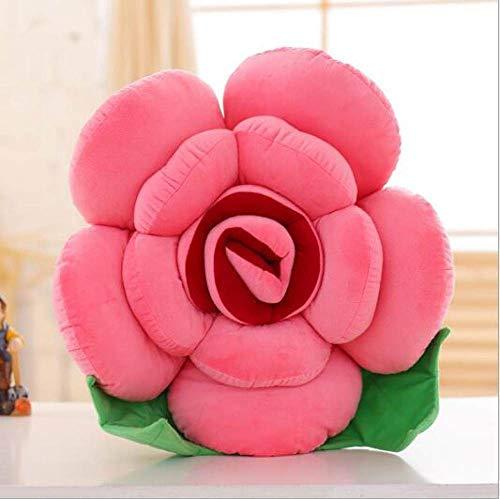 FKIHK SitzkissenMulti-Color-Rose Kissen weichen dekorativen Sofa Dekokissen kreative Blüte Nackenstütze Kissen Stuhl Kissen Bettwäsche Kissen, Wassermelone rot, Durchmesser 40cm