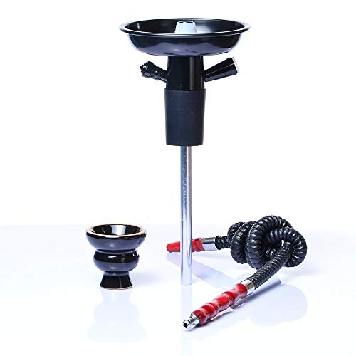Douup Portable Bottle Hookah Stem, Hookah Shisha Set/Kit, Ceramic Shisha Bowl, Hookah Hose, Stem, Suitable for Glass Bottles, Wine, Champagne,Black