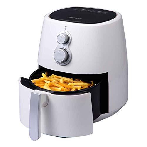 HUATINGRHPM Langlebig Chip Fryer Ofen, elektrische Heißluftfritteuse 30 Minuten Timer und einstellbare Temperaturregelung für gesundes ölfreies oder fettarmes Kochen Geschenk, White