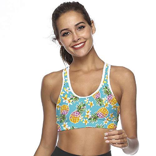 PQKDV Womens Compression Padded Sport-BH mit Handytasche Yoga-BH Sportswear Elastic Running Unterwäsche Gym Sport-BHS Top