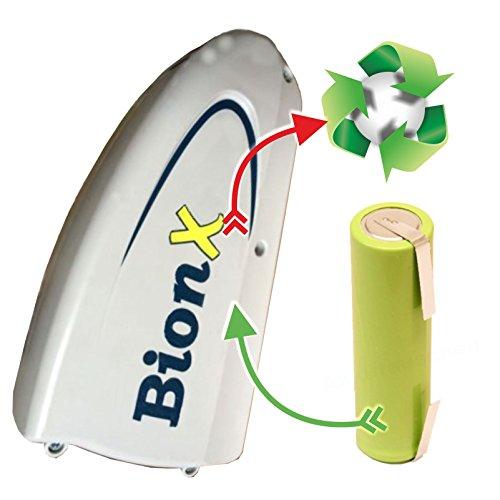 akkutauschen.de kompatibel mit BionX 1511 2300 2777 3043 3193 3194 3195 3196 3350 3356 3741 3743 PL250HT RR L M Zellentausch für E-Bike-Akku 37 V 14,5 Ah