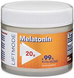 LiftMode Melatonin Powder Supplement - for Healthy Sleep and Stress Reduction | Vegetarian, Vegan, Non-GMO, Gluten Free - 20 Grams (6666 Servings)