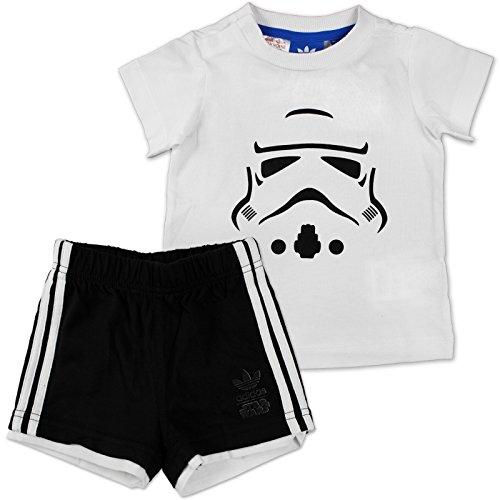 adidas Jungen Star Wars Storm Trooper Set Kleinkinder Kinder Anzüge & Bodies, Weiß/Schwarz, 68