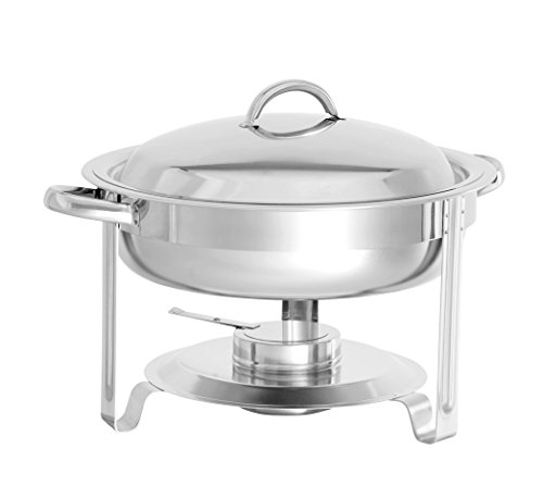 Cater Strong - 3.7 qt. Round Stainless Chafer, Each