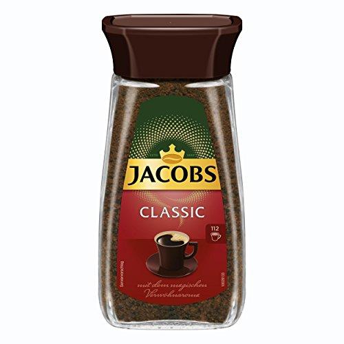 Jacobs Classic, Löslicher Kaffee, Instantkaffee, Instant Kaffee, Löskaffee, Glas, 200 g