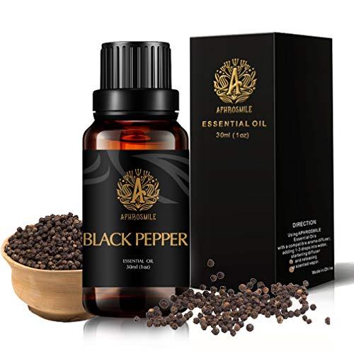 Aromaterapia Negro Pimienta Aceite Esencial para difusor, 30ml Grado Terapéutico Negro Pimienta aceite esencial fragancia para humidificador, 1oz 100% puro Negro Pimienta aceite perfumado para casa