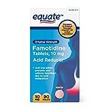 Equate Famotidine Original Strength 10mg Acid Reducer 90 Tablets