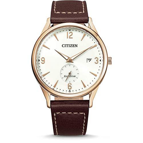 Citizen Reloj Analógico para Hombre de Eco-Drive con Correa en Cuero BV1116-12A