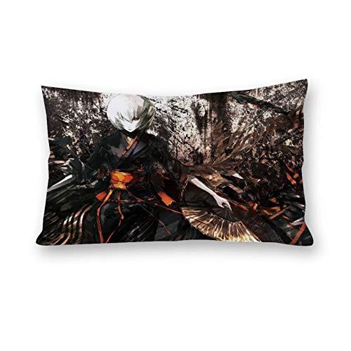 DKE&HXL Funda de almohada de algodn con diseo de doble disfraz de animacin de la pintura del traje de la moda de la ilustracin